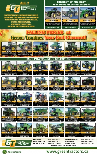 Falling Prices At Green Tractors Year End Clearout!