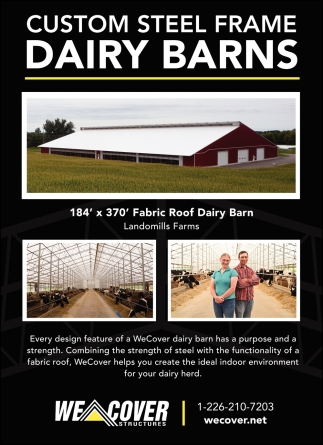Custom Steel Frame Dairy Barns