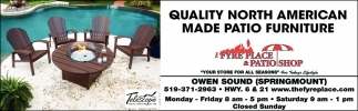 Quality North American Made Patio Furniture