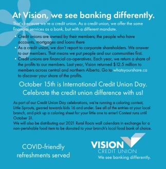 At Vision, We See Banking Differently