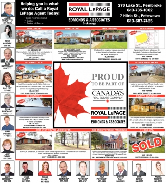 Helping You is what We Do: Call a Royal LePage Agent Today!