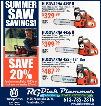 Summer Saw Savings!