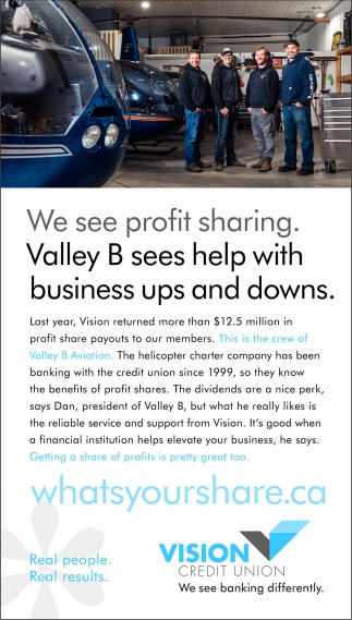 We See Profit Sharing. valley B Sees Help with Business Ups and Downs