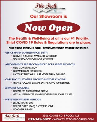 Ouw Showroom is Now Open