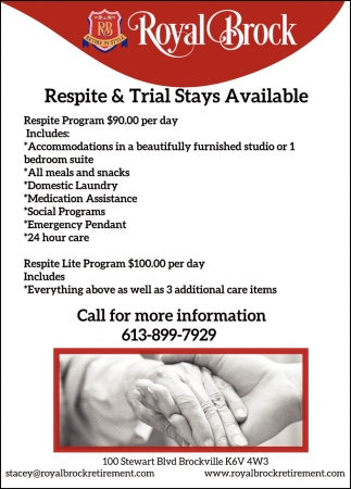 Respite & Trial Stays Available