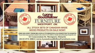 All Stock Sets of Canadian-Made Wood Products On Sale Now!
