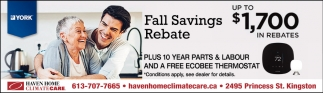 Fall Savings Rebate