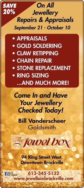 On All Jewellery Repairs & Appraisals