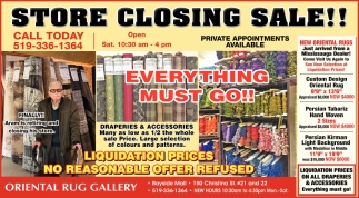 Store Closing Sale!!