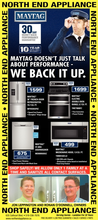 Maytag Doesn't Just Talk About Performance - We Back it Up.