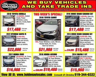 We Buy Vehicles And Take Trade Ins