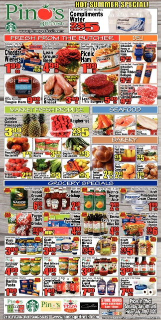 Weekly Special's