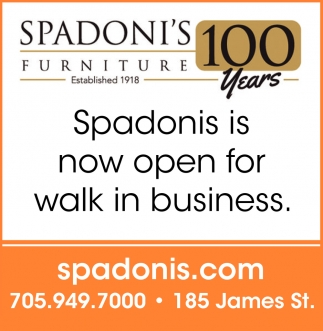 Spadonia Is Now Open For Walk In Business