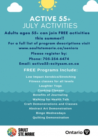 Active 55+ July Activities