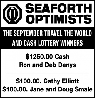 The September Travel The World And Cash Lottery Winners