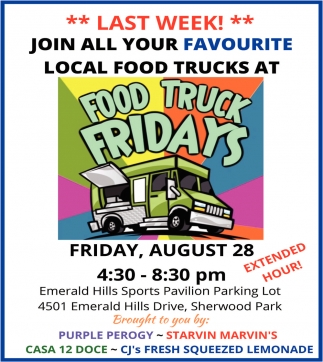 Join All Of Your Favourite Local Food Trucks At Food Truck Fridays