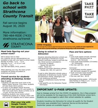Go Back To School With Strathcona County Transit