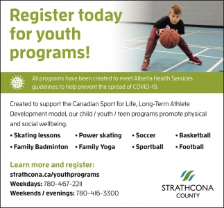 Register Today For Youth Programs!