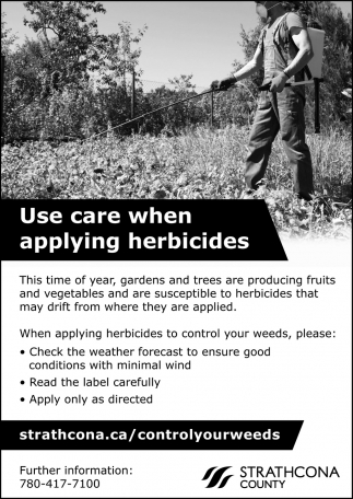 Use Care When Applying Herbicides