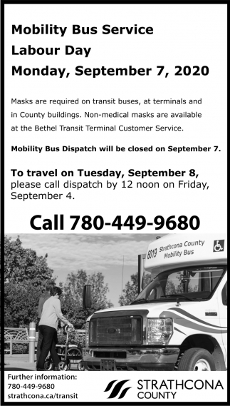 Mobility Bus Service Labour Day