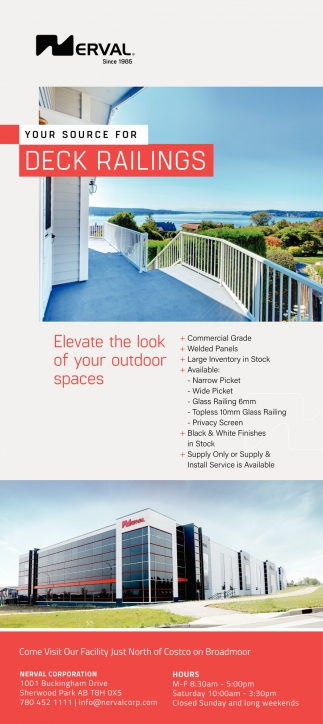 Your Source For Deck Railings