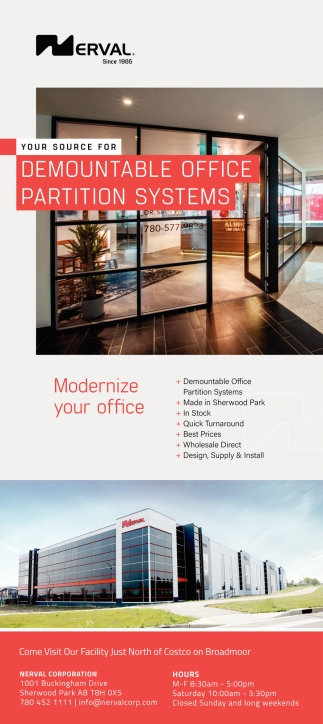Your Source For Demountable Office Partition Systems