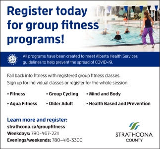 Register Today For Group Fitness Programs!