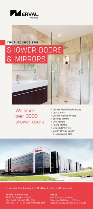 Your Source For Shower Doors & Mirrors