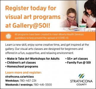 Register Today For Visual Art Programs At Gallery@501!