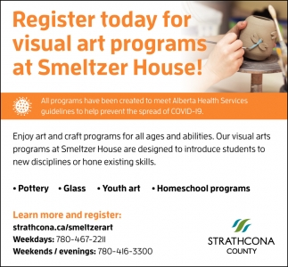 Register Today For Visual Art Programs At Smeltzer House!