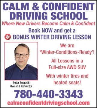 Where New Drivers Become Calm & Confident