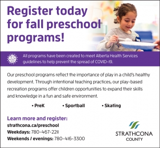 Register Today For Fall Preschool Programs!