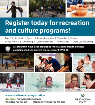 Register Today For Recreation And Culture Programs!