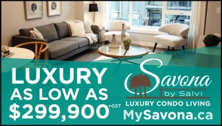 Luxury As Low As $299,900