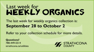 Last Week For Weekly Organics