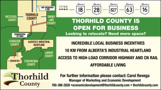 Thorhild County Is Open For Business