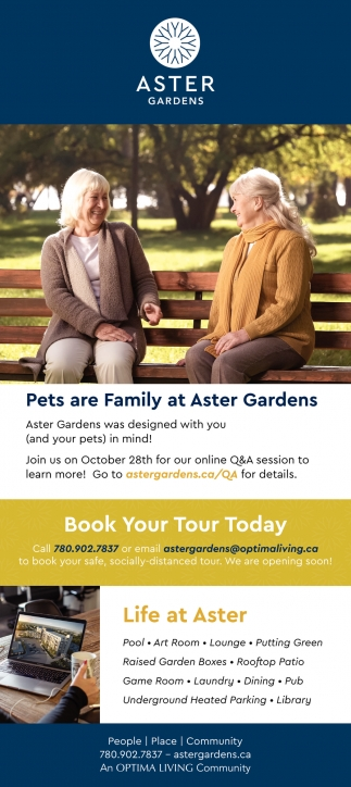 Pets Are Family At Aster Gardens