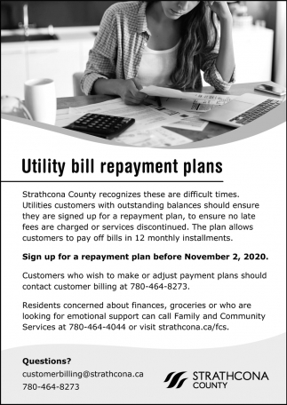 Utility Bill Repayment Plans