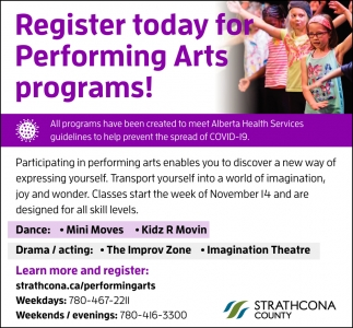 Register Today For Performing Arts Programs!
