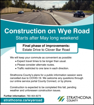 Construction On Wye Road