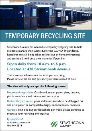 Temporary Recycling Site