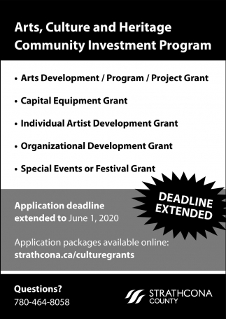 Arts, Culture And Heritage Community Investment Program