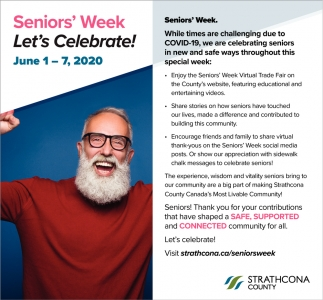 Senior's Week Let's Celebrate!