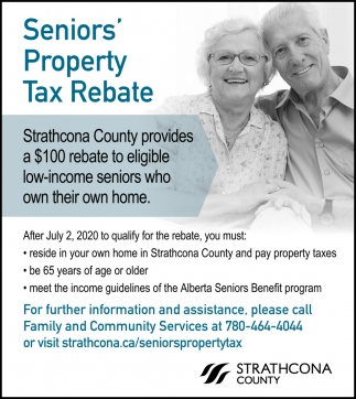 Senior's Property Tax Rebate