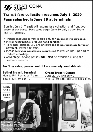 Transit Fare Collection Resumes July 1, 2020