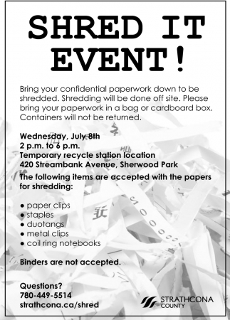 Shred It Event!