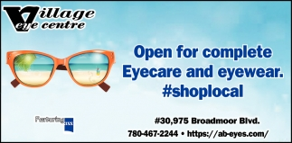 Open For Complete Eyecare And Eyewear.