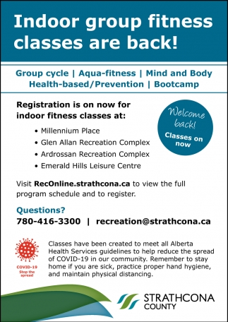 Indoor Group Fitness Classes Are Back!