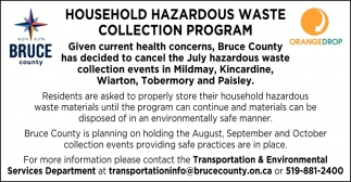 Household Hazardous Waste Collection Program
