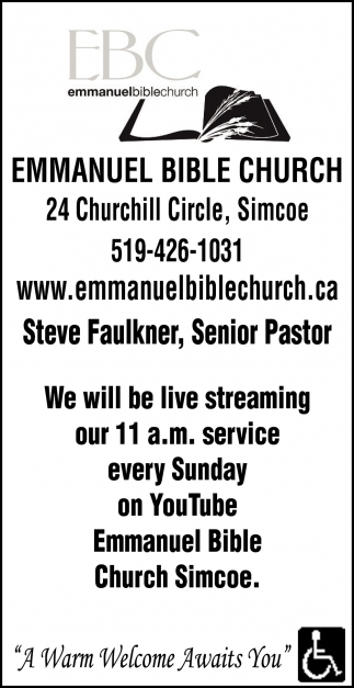 We Will Be Live Streaming Our 11 a.m. Service Every Sunday On YouTube